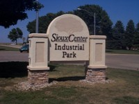 Sioux Center Industrial Park sign