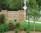 Library sign Opens in new window