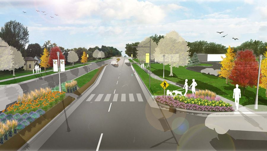 Concept drawing of view near 6th Street on Highway 75