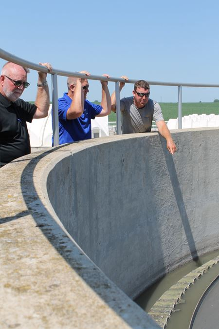 Council members visit wastewater treatment plant