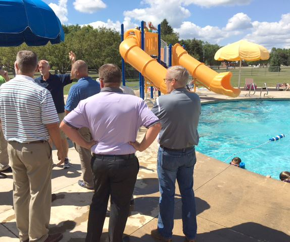 City council tours All Seasons Center pool area