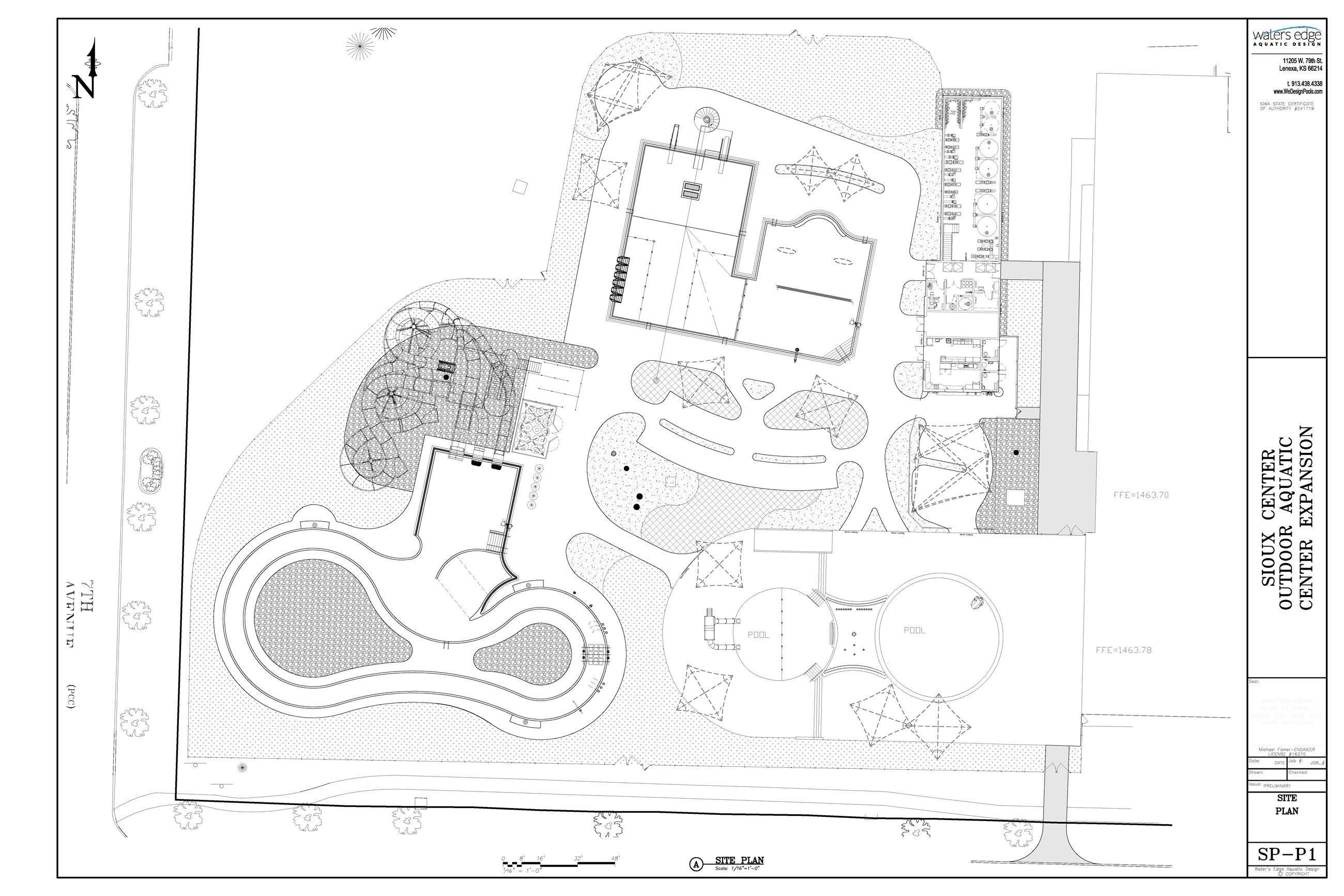 Aquatic Center design sketch