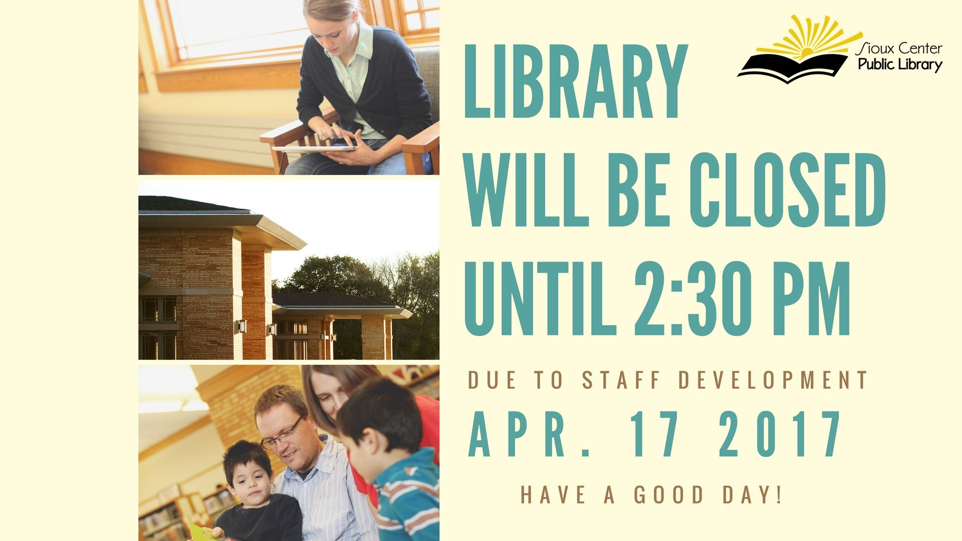April 17 closed