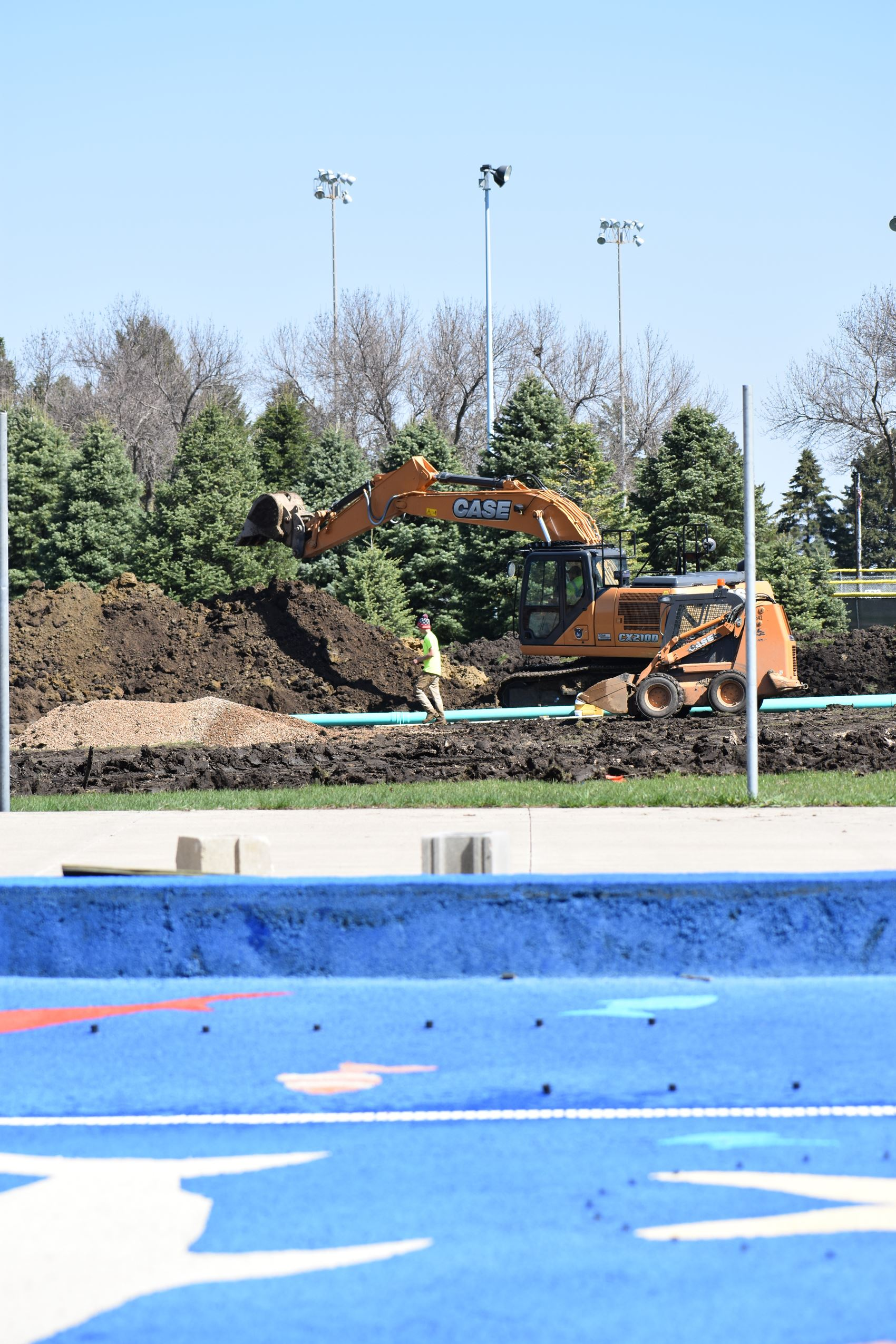 Aquatic center utility work