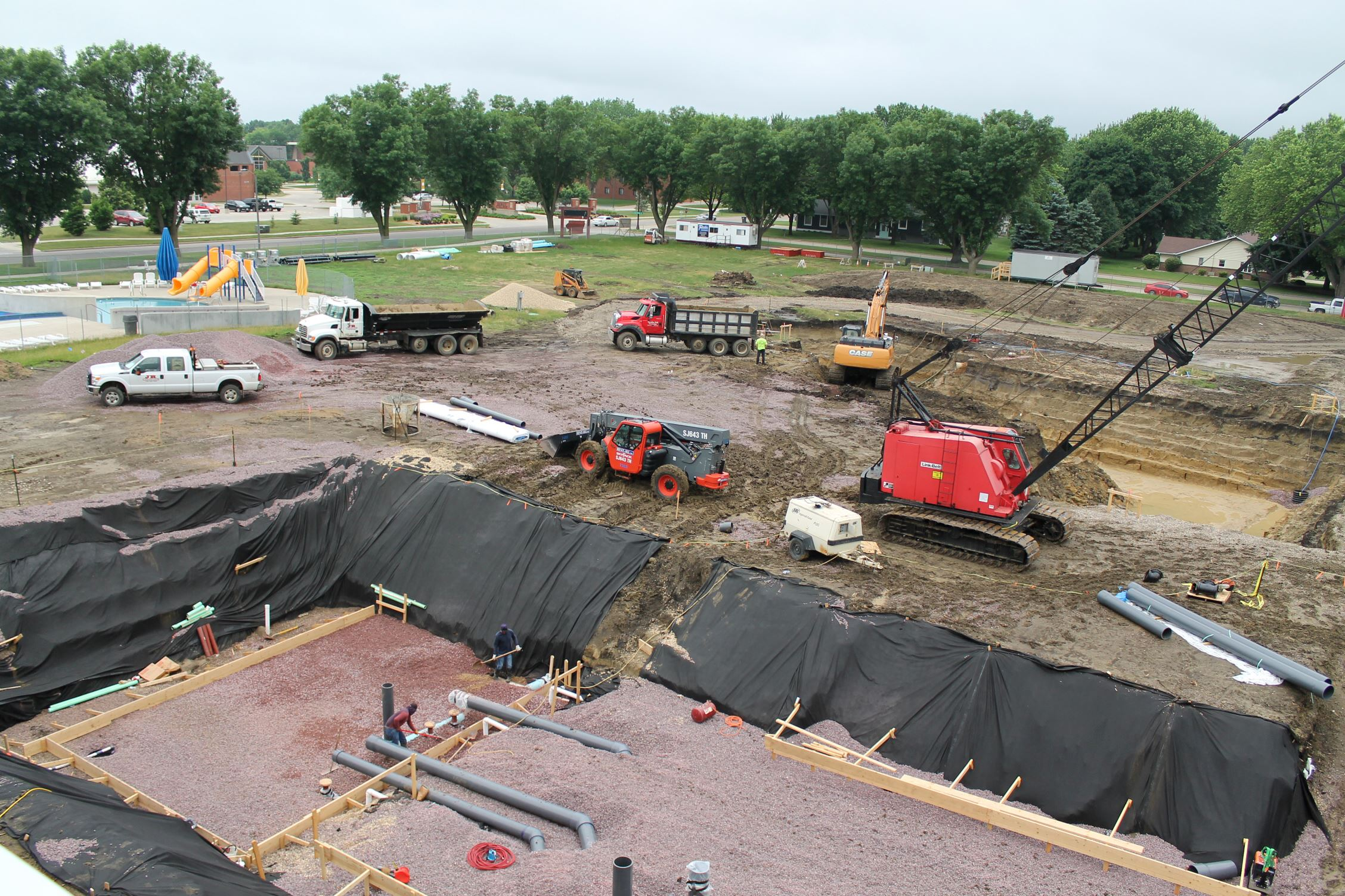 Aquatic center construction