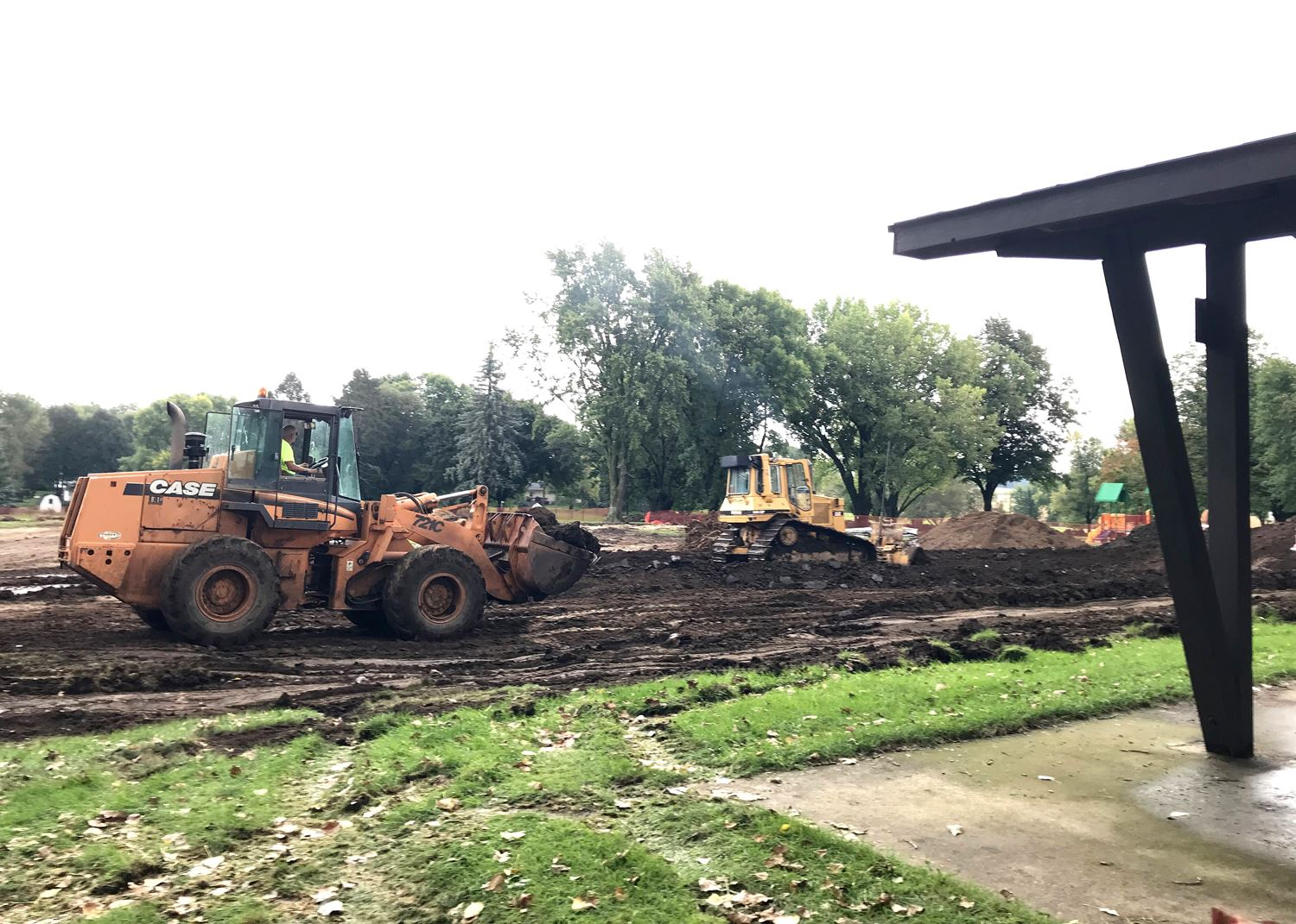 Excavation and grading at Children&#39s Park