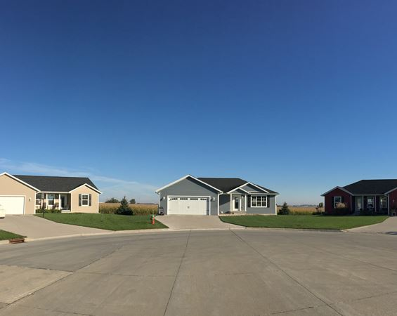 Homes in residential development area