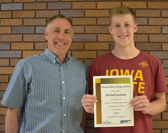 2019 MRES scholarship winner Mitchell Jacobsma