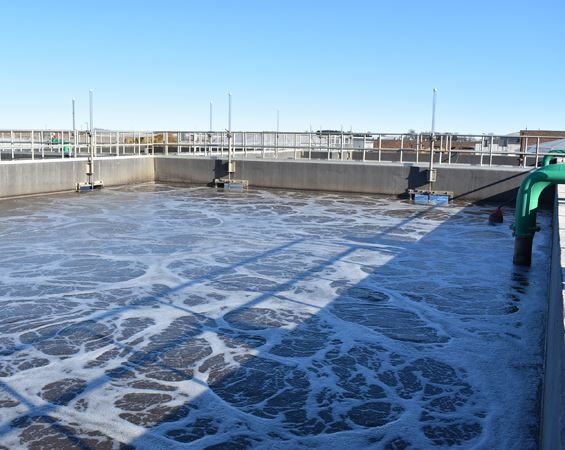 Wastewater aeration basin