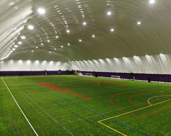 indoor turf field with dome