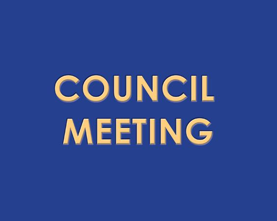 Council Meeting Sign