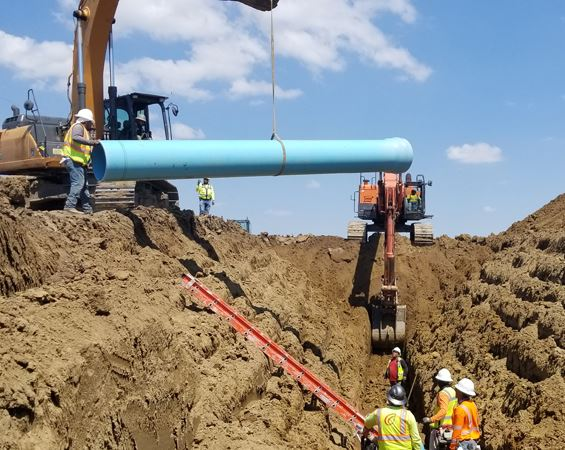 Pipeline construction site