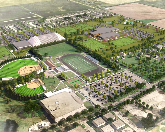 Concept drawing of park and athletic fields