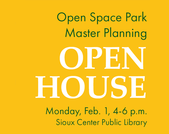Open House for Open Space Park planning Feb. 1