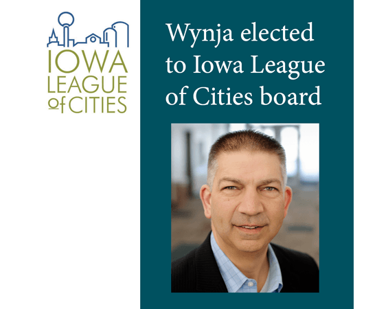 Iowa League of Cities logo and man's photo