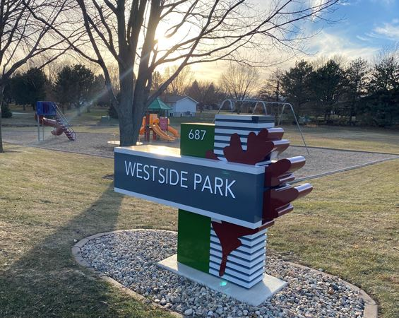 Park with Westside Park sign