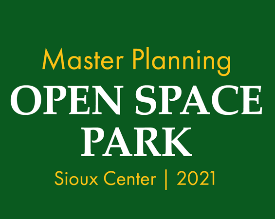 Open House Open Space Park master planning sign