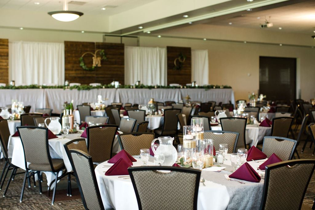 Banquet room with tables